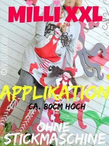 ♥MILLI XXL♥ Applikation 80cm HÖHE eBOOK