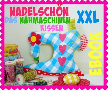 ♥SEWING MACHINE♥ XXL Pillow eBOOK German