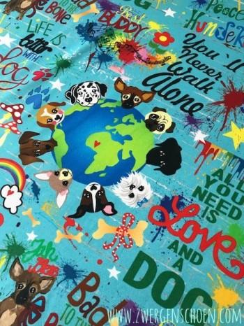 ♥WUFFz on GRAFFITISCHÖN♥ 1.30m JERSEY türkis BLAU