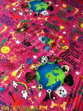 ♥WUFFz on GRAFFITISCHÖN♥ 0.6m JERSEY dark PINK