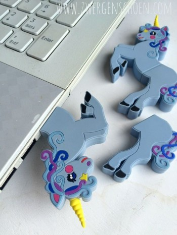 ♥UNICORN♥ USB-Stick 2GB incl. eBOOK