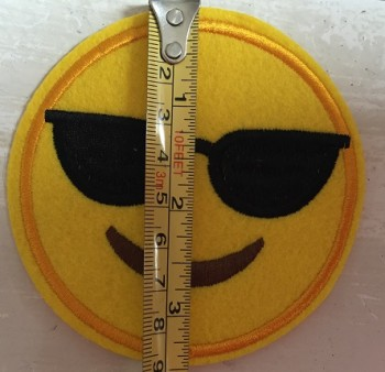 ♥EMOIJ♥ Smiley SUNNY Applique SPECIAL