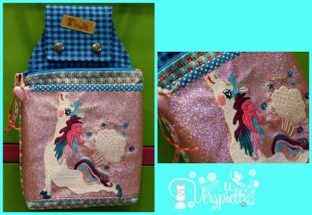 ♥EXHALE♥ Embroidery FILE Set UNICORN incl. MUG RUG Ith