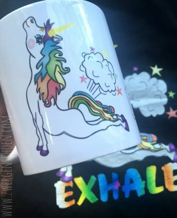 ♥EXHALE♥ Tasse ZWERGENSCHÖNES Einhorn 0.3L