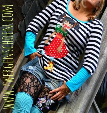 ♥GRISELDA GRUSELSCHöN♥ XL-Applikation OHNE (!) Stickmaschine