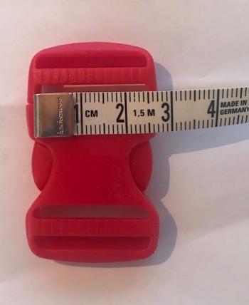 ♥STECKVERSCHLUSS♥ Kunststoff STECKSCHNALLE rot 2,5cm