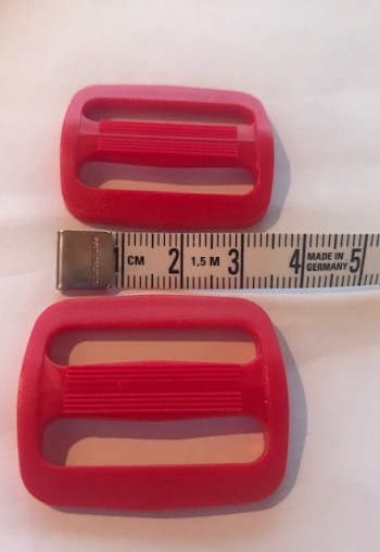 ♥Plastic WIRE BUCKLES♥ red PRICE per ONE