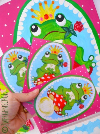 ♥HAPPY Frogprince ARTHUR♥ Postcard-SET of 3