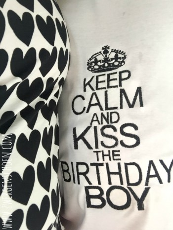 ♥KEEP CALM and KISS the BIRTHDAY BOY♥ Embroidery FILE 13x18 20x26cm 1€-SPARbie