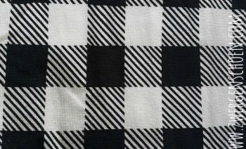 ♥KÄSTCHENSCHÖN♥ 0.5m JERSEY Digitaldruck VICHY black&white