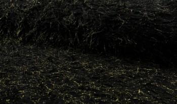 ♥GLITZER-ZOTTEL♥ 0.5m FELL Fake FUR black GOLD Glitzer