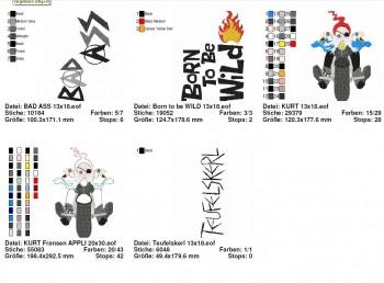 ♥KURT the BIKER Gnome♥ Embroidery FILE SET