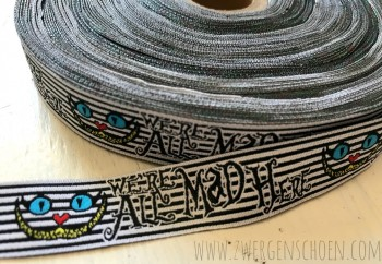 ♥CHESIRE CAT♥ Ribbon WE ARE ALL MAD HERE Art-Work