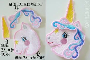 ♥little UNICORN Spezial XXL 10x10cm♥ Stickmuster EINHORN