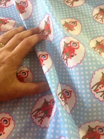 ♥LITTLE RED♥ 0.5m (!) Rotkäppchen BESCHICHTETE Baumwolle