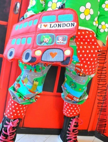 ♥LONDON BUS♥ Applikation XXL 20x30cm