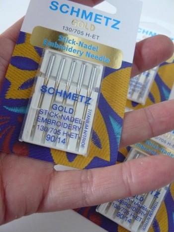 ♥SCHMETZ GOLD♥ Embroidery NEEDLE 130/705 H-ET