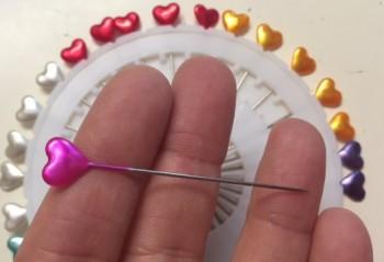 ♥NEEDLES♥ 30pcs HEART mixed