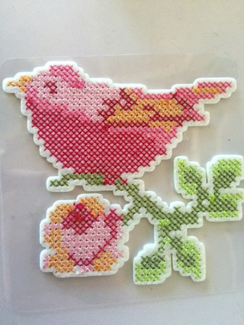 ♥IRON-ON♥ BIRD Cross STICH