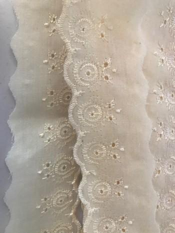 ♥LINGERIE♥ EGG-WHITE cotton RIBBON price per meter