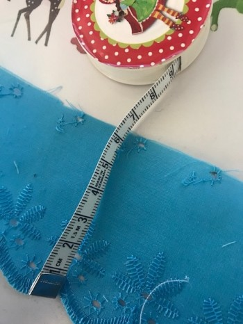 ♥LINGERIE♥ Ribbon SHABBY CHIC turquise 6cm PRICE PER METER