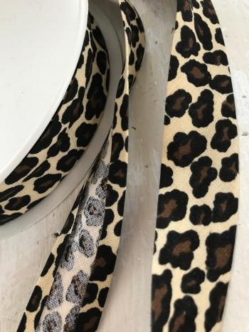 ♥SCHRÄGBAND♥ Baumwolle LEO Animalprint LEOPARD wild