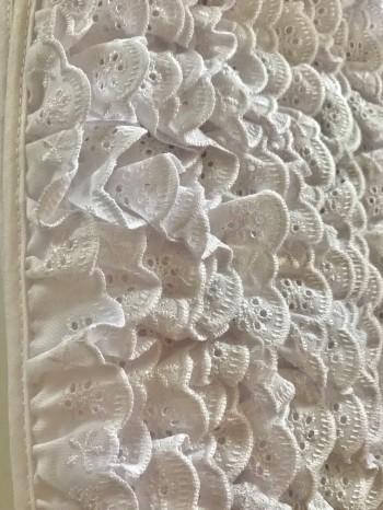 ♥RÜSCHEN♥ Wäschespitze LOCHSTICKEREI weiss 2cm BATIST