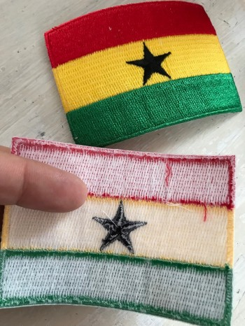 ♥GHANA♥ Patch FLAG iron it 6x8cm