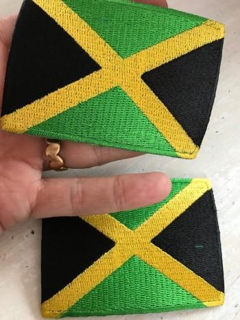 ♥JAMAICA♥ Patch FLAG iron it 6x8cm