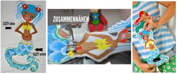 ♥WATERLILLY XXL♥ Stickmuster SPEZIAL 13x18cm BAUSATZ Nixen MERMAIDS 50 Stickmuster!!!