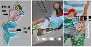 ♥little WATERLILLY XL♥ Stickmuster SPEZIAL 10x10cm BAUSATZ Nixen MERMAIDS