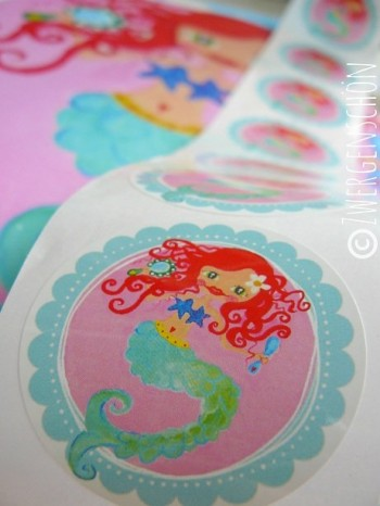♥WATERLILLY♥ Mermaid STICKER 20pcs 5cm