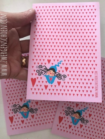 ♥MILLI in LOVE♥ NOTEpad DIN A6 pink/red 25SHEETS