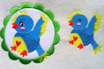 ♥PIEPS the FABRICstar♥ Embroidery-FILE 13x18cm incl. InTheHoop