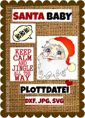 ♥SANTA BABY♥ Plottmotiv PLOTTER Nikolaus