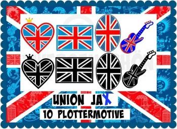 ♥UNION JAx♥ PLOTTERDATEI Flaggen GEWERBL. NUTZUNG