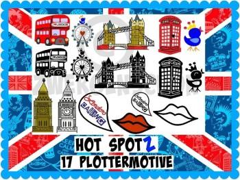 ♥HOT SPOTz♥ PLOTTERDATEI<br>Best of LONDON gewerbl. NUTZUNG