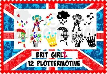 ♥BRIT GIRLz♥ PLOTTERfiles LONDON GIRL SVG, DFX, JPG