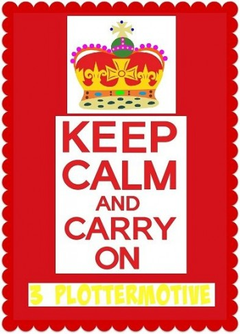 ♥KEEP CALM and CARRY on♥ PLOTTER File SVG, DFX, JPG