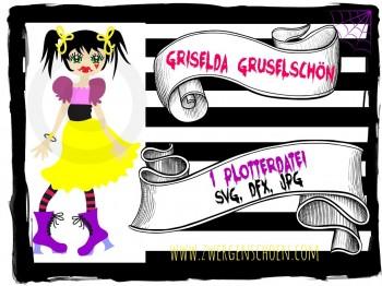 ♥GRISELDA GRUSELschoen♥ PLOTTFILE Vampire GIRL DFX, JPG, SVG