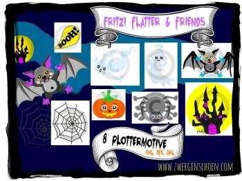 ♥FRITZI FLATTER&Friends♥ PLOTTERDATEI Helloween-SPEZIAL-PREIS