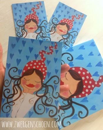 ♥MILLI in LOVE♥ Postkarten-SET Kunstkarten 3STÜCK