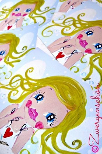 ♥GOLDIE GOLDLÖCKCHEN♥ Postkarten-Set SCHUTZENGEL 3Stk