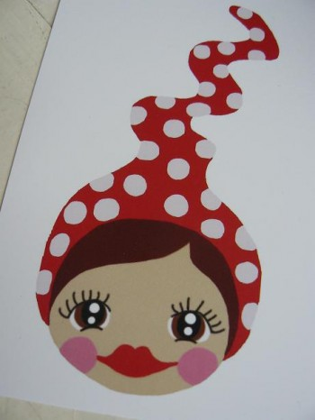 ♥MISSI ZWERGENSCHoeN♥ POSTCARD Set of 3 LOVEhead