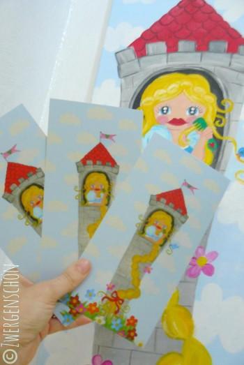 ♥RAPUNZELschön♥ XL Postkarten-SET 3Stück TURMhooooCH