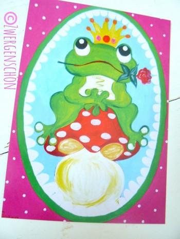 ♥FROSCHPRINZ Arthur im GLÜCK♥ Postkarten SET 3Stk.