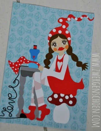 ♥MISSI in LOVE with SEWING♥ Postkarten SET 3STÜCK