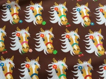 ♥MON CHERI♥ 0.5m BAUMWOLLE Haflinger PONY Pferd SCHOKOLADE