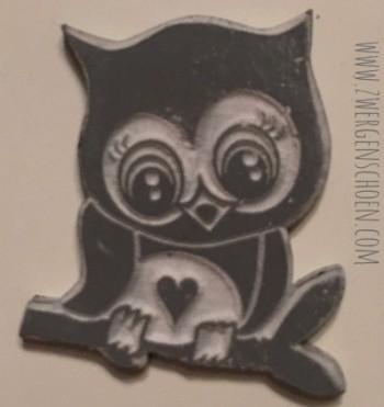 ♥RUBBERSTAMP♥ GUM for STAMP Bonnie OWL 2.5x3cm DIY