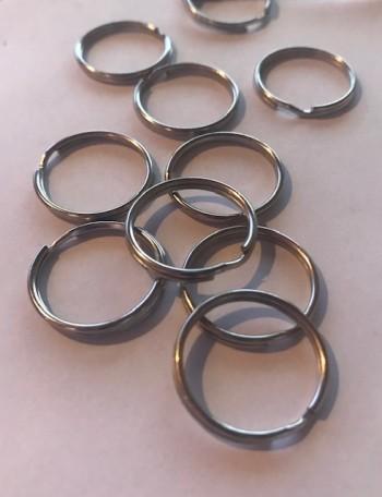 ♥SCHLÜSSELRINGE♥ 2cm DURCHMESSER Silberfarben 10STÜCK